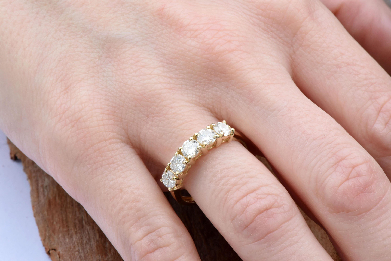 1 carat Diamond Eternity Band-Wedding band-Diamond Band-Anniversary ...