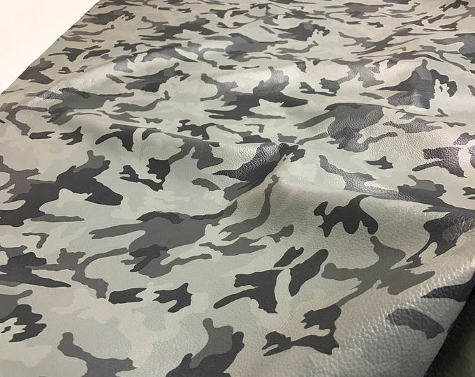 Desert Granite Camouflage Cowside Leather - Natural Grain Cow skins. Beautiful, soft hand feel. Perfect leather for handbags
