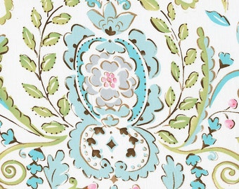 Love Bird Damask Fabric - By The Yard - Girl / Vintage / Fabric