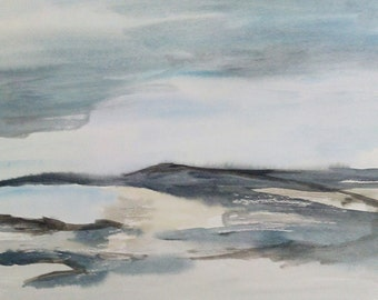 "Watercolor ""silent landscape"" 16-1 original"