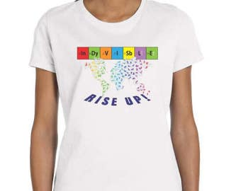 Indivisible - Resistance - Feminist Rise Up! T-shirt - Women's
