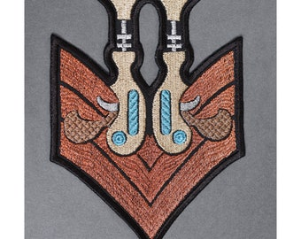 Steampunk Gun Military Iron On Embroidered Patch