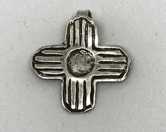 Fine silver zia pendant