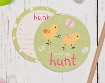 Easter Egg Hunt Coaster Invitations