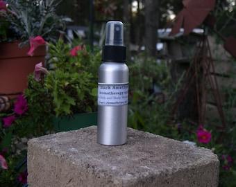 Black Amethyst Aromatherapy Body spray, room spray, Bath and Body Fragrance, moisturizing, essential oils