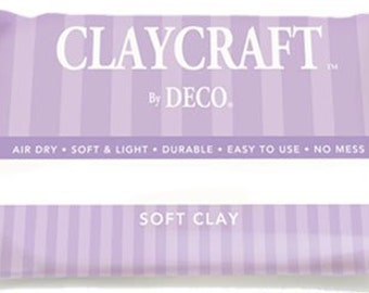 Polymer clay lightweight Japanese air drying clay white decoclay soft Claycraft by deco craft supply