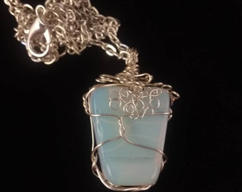 Handcrafted wire-wrapped Opalite Necklaces