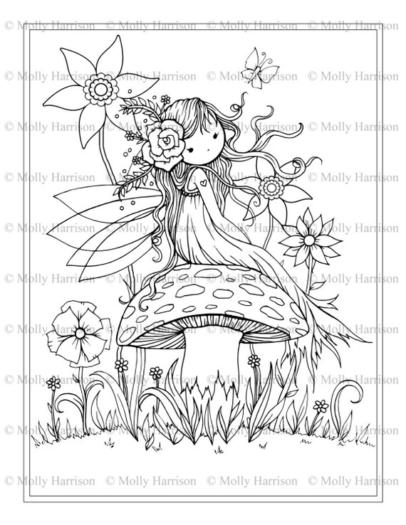 fantasy mushroom coloring pages - photo#2