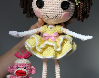 PATTERN: Princess Laina Amigurumi Doll