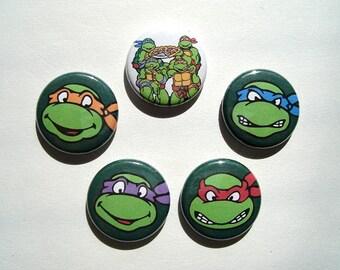 Teenage Mutant Ninja Turtles Pinback Button Set 1