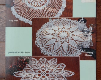 Crochet Doily Patterns/ Classic Doilies by Yalanda Wiese/ 5 Designs 12.5- 21 Inches/ Round, Pineapple, Lotus and Ferns, Fans, Lacy Mesh