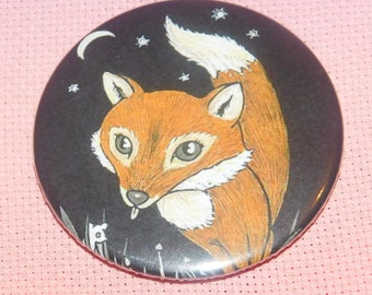 CLEARANCE, Seconds stock, Fox 58mm Needle Minder, Licensed, Cross Stitch Keeper, Anita Inverarity, Fridge Magnet, Button Magnet, Pin Holder