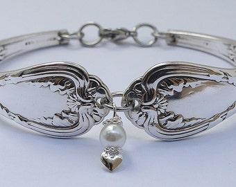"Authentic Tiffany & Co. EP Silverware Spoon Bracelet Vintage Bridal Wedding Jewelry (something old, something new) ""Regent"" Year 1884"