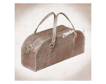 Vintage Leather Bag Instructions - Leather craft pattern PDF 1104