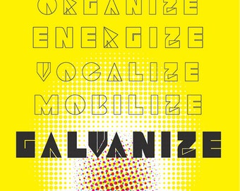 Galvanize! Democracy Print