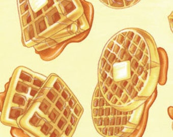 Waffles novelty fabric [[by the half yard]]