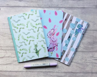 A5 notebook set, limited edition, fairy notebook, stocking fillers, fairytale, planner girl gift, stationery, cute stationery, pastel goth