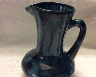 Dryden Ozark Frontier pitcher vase. Blue green black free ship