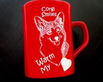 Corgi Smiles Coffee Mug