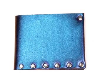 Peacock Folding Wallet | Cobalt Iridescent Wallet | Bi-Fold | Card Holder | Mens Wallet | Money Holder | Wallet | Vegan Wallet | Made in USA