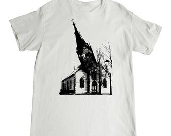 Crumbling Church Steeple T-Shirt