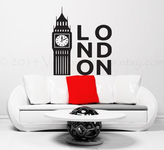 London big ben wall decal clock wall decal london wall