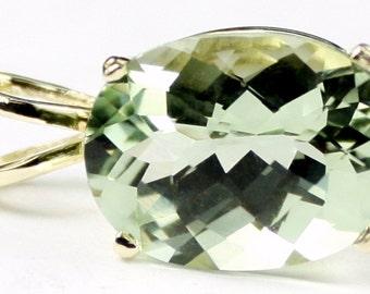 Green Amethyst, 14KY Gold Pendant, P006