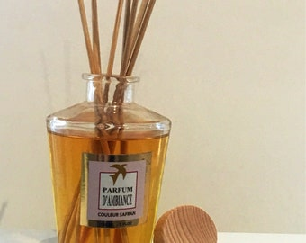 DIFFUSER FRAGRANCE white tea 100% handmade, luxury home fragrance - box scent with sticks made in france home gift