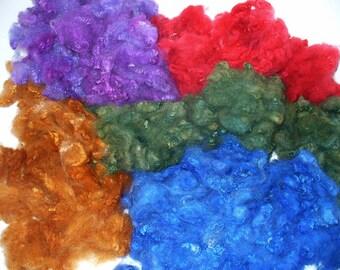 Border Leicester Fleece for Hand Spinning Knitting Crochet Felting Needle Felting