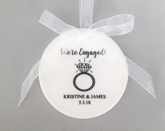 Personalized Engagement Ornament, Engagement Ornament, Engagement ornaments, Engaged, Just Engaged, Engagement Gift, Newly engaged