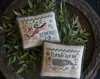 PLUM STREET SAMPLERS Cape Cod Keeps cross stitch patterns at thecottageneedle.com Summer mermaid whales smalls