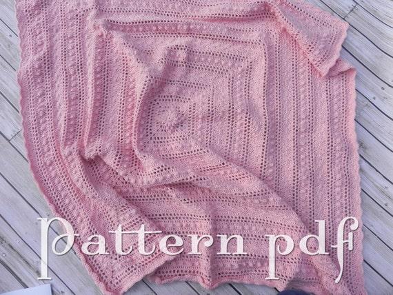 Pdf Pattern Crocheted Lace Baby Blanket Pattern