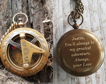 engraved compass, personalized working compass, compass necklace, compass, valentines day, mens gift, gift for mens, womens gift, valentines