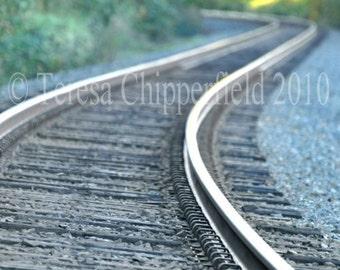 Train Tracks Photography,Train Tracks, Railroad Home Decor Print, Railway Wall Art, Vanishing,Travelling Photo,Sepia Photo, 8x12,12x18,16x24