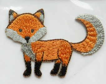 Foxy Fox Iron On Applique Motif Patch, Brand New