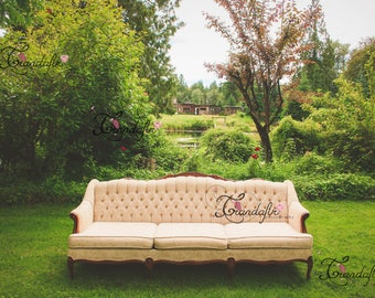 Digital Background Vintage Couch