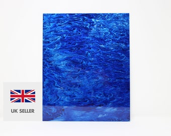 3mm Blue and white marble acrylic perspex with glitter 300x370mm