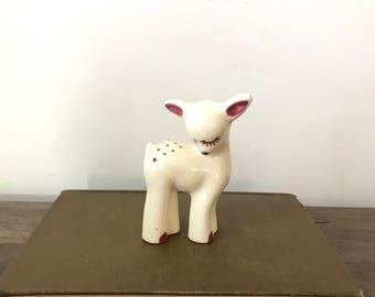Vintage Ceramic Fawn Figurine