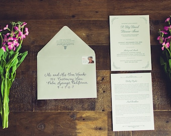 Ensemble d'invitation - Custom Designed & Letterpressed