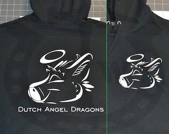 Dutch Angel Dragon Pull Over Hooded Sweatshirt