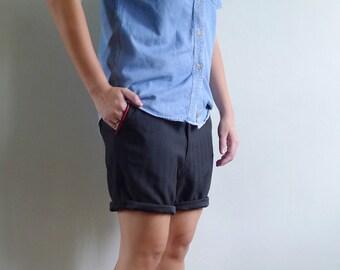 Vintage 80's Men's Marching Band Black Shorts S 29 30 31