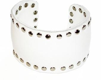 Leather Rivet Cuff Bracelet