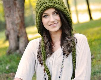 Pixie Hood for Women / Women's Pixie Hat / Crochet Hat / Gnome Hat / Fall Fashion / Winter Fashion / Winter Hat / Elf Hat / Crochet Hood