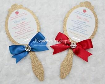 Woodland Princess mirror invitations