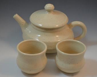 Handmade ceramic teapot set, Teapot set, Handmade, Tea pot set, Ceramic tea pot set, gold,  teapot, ready to ship