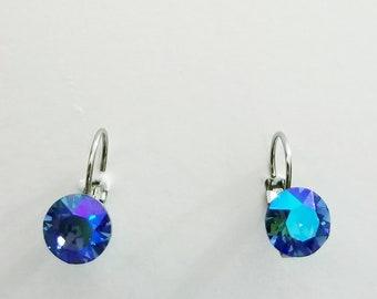AB Glacier CRYSTALIZED Swarovski element earrings