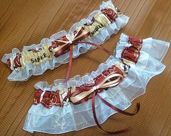 Florida State University Seminoles FSU Inspired Sheer Wedding Garter Belt Set