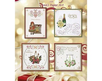 Book 8 cards designs 3D embroidery 25 sheets