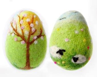 Needle Felted Easter Egg, Easter Decor, Spring Home Decor, Easter Ornament, Easter Gift, Personalized Easter Egg