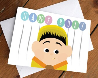 RUSSELL FROM UP // happy birthday, love, friendship, cute, greeting card, disney, pixar, best friends